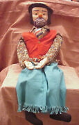 Vintage Emmett Kelly Jr - 30 Ventriloquist Dummy Doll With Box And Instr Booklet