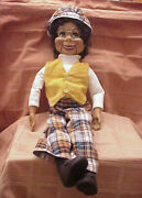 Willie Tyler's Lester - 26 Ventriloquist Dummy Doll Pull String W/hat And Glasses