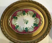 Framed Antique English Pottery Dish Lilac Charles Meigh