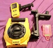 Dewalt 150ft. Red Self Leveling Rotary Laser With Detector Clamp And Wall Mount