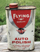 Cool Vintage Flying A Auto Polish Tidewater Oil Tin Can Man Cave Garage