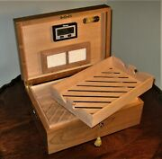 Premium Solid Black Cherry Cigar Humidor By Paul A Schuster