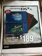 Pokemon Soul Silver, Nintendo Ds Xl Poster. Rare, Hard To Find
