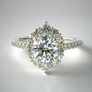 Solid 14k White Gold 1.00 Ct Real Diamond Engagement Rings For Women Size 5 6 7