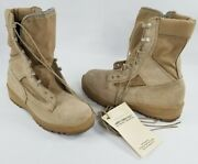 Us Military Flame Resistant Combat Boots 7.5 W Acb-hw Desert Sand Army Wellco