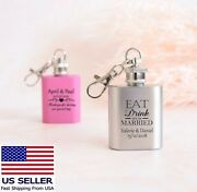 Engraved Hip Flask Set Custom Flask For Women Personalized Birthday Party Favor