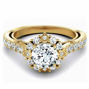 1.00 Ct Natural Diamond Women Engagement Rings Solid 14k Yellow Gold Size 6 7 8