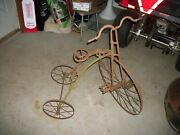 Antique Cast Iron Hubley Velocipede Style Tricycle/40 Streamline And Art Deco