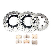 Front Rear Brake Discs Rotors Pads Yzf1000r 96-01 Yzf600r Thunder Cat For Yamaha