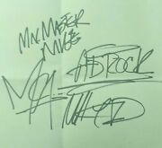 Beastie Boys Signed Vintage Cut Band Signed X3 Plus Mix Master Mike Rare