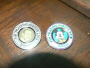 Lot Of 2 Disney Pin Trading Nights 2013 Spinner Pins Mickey And Walt Le750