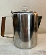 Stansport 9 Cup Stainless Steel Percolator Coffee Pot Outdoor Stovetop Camping