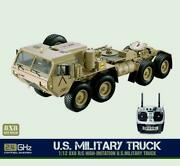 Hg Rc Military Truck 8x8 Metal Chassis P802 Radio Led Sound System 1/12 Scale