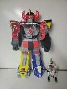 Imaginext Power Rangers Megazord Playset With Tiger Zord + Red And White Ranger