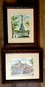 Lot Of Two Vintage Framed Prints Arno French Watercolor Paintings