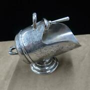 Vintage Silver Plated Sugar Scuttle And Scoop Signed Made In England J872