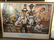 Bermuda Jazzscape Robert D. Bassett Signed And Numbered Edition Lithograph Framed