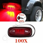 100x Red Led Dually Bed Fender Side Marker For Dodge Ram+free 3/4and039and039 Bullet Light