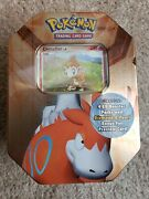 Pokemon 2007 Vintage Chimchar Tin Box 4 Sealed Ex Booster Packs Dragon Frontiers