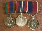 Ww2 Long Service Medal Group To Wo2 Class Champagne, Royal Canadian Air Force