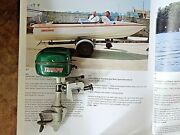 Vintage Triumph Toy Electric Outboard Boat Motor Model