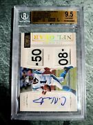 🔥2011 National Treasures Cam Newton Nfl Gear Combos Rookie Auto /10 Bgs 9.5🔥