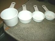 Set Of 4 Vintage Rubbermaid Plastic Measuring Cups - White - Usa