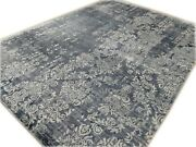 9and039x12and039rug | Modern Luxury Hand Knotted Bamboo Silk Multi Color Area Rug