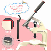 Leather Plastic Cutting Machine Diy Hand Press Hole Punching Tool And Dies Set