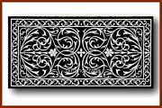 Royal Pattern Inlay Reception Table Top Marble Dining Table Size 30 X 60 Inches