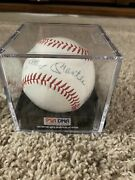 Mickey Mantle Autographed Ball +enos Slaughter Whitey Ford bill Skowron More