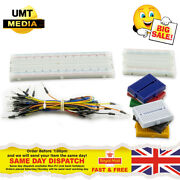 170 400 Or 830 Solderless Breadboard Prototype + 65pc Jump Cable Wires Arduino
