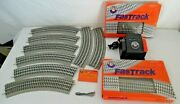 Lionel Powermax 40 Watt Transformer And Fastrack Oval O-36 Curve And Straights 16pc