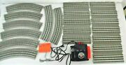 Lionel 80 Watt Transformer And 20 Pcs Fastrack Oval O-36 Curve And Straights O Gauge