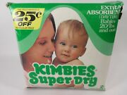 Vintage 1976 Box Of Kimbies 24 Diapers 20+ Pounds Heavy Wetters -rarehuggies