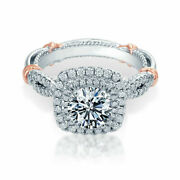 1.05 Ct Real Diamond Engagement Rings Solid 18k White Gold Ring For Sale Size 6