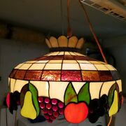 Style Fruit Stained Glass Meyda Ceiling Light 20 Inches