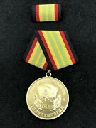 Vintage East German Border Guard Medal 15 Year True Service -used Gold Only One