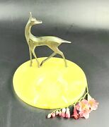 Vintage - Excellent Condition- Marble Ashtray With Bronze Gazelle