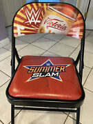 Victoria Summer Slam Wrestling Chair With Signed Victoria Rey Mysterio 619 Mask