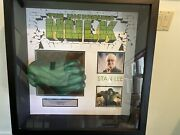 Stan Lee Signed Hulk Hand Fist With Custom Shadowboxed Jsa Authenticated