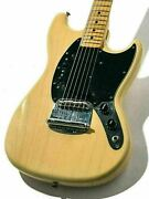 Fender Usa Mustang Blonde 1978 Used Ash Body Maple Neck W/hard Case