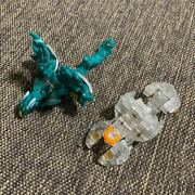 Bakugan Metal Parts Clear White And Blue Green Lot Of 2 Toy Figure Japan Shipped