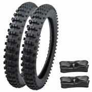 Front Rear 70/100-17 90/100-14 Tire Tube For Cr80 85 Kx85 Ttr125 Yz85 80 Crf80