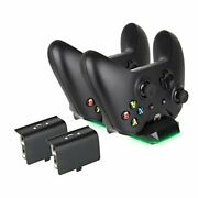 Megadream Xbox One Controller Charger Dual Docking Station 300mah Rechargeabl...