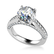 1.25 Carat Natural Diamond Engagement Ring 14k Solid White Gold Size 4.5 5 6 7 8