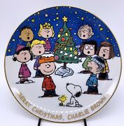 Danbury Mint Peanuts Magical Moments Merry Christmas Charlie Brown Plate Limited