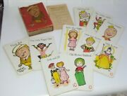Pre Ww2 Bobs Your Uncle - Vintage 1935 Playing Card Game - Nursery Rhymes