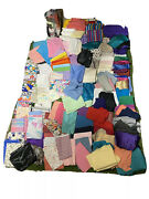 Bulk Vintage Lot Of 200 Pounds Of Sewing Fabric Mixed Yard Patterns Solid Colors