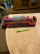 Rare 4606 Tin Purple /red Toy Fireball Express Train Toy Made In Japan